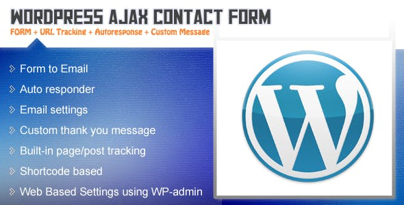 AJAX Contact Form with Tracking - WordPress