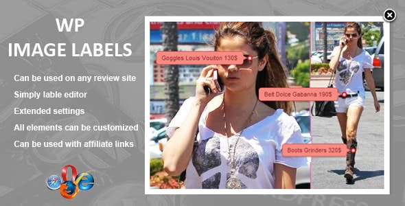 WP Image Labels - CodeCanyon Item for Sale