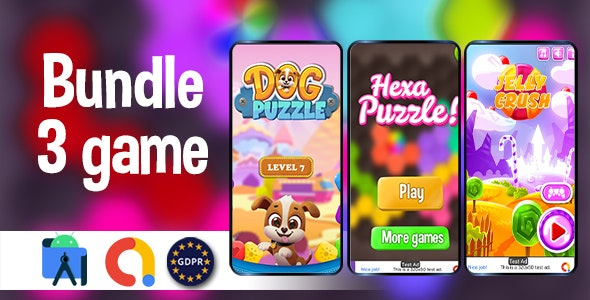 Bundle 3 GAMES - (Admob + GDPR + Android Studio) - CodeCanyon Item for Sale