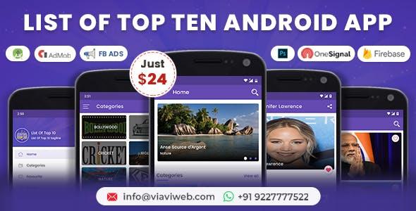 List of Top Ten Android App (Top 10 List)