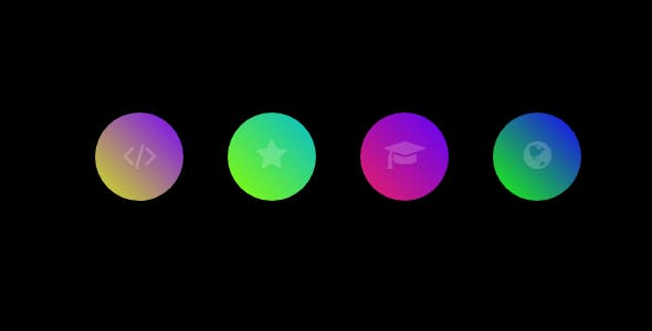 Glowing Gradient Icon Hover Effect