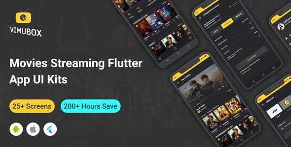 Vumibox - Online Movie Streaming Flutter Full App UI Kit