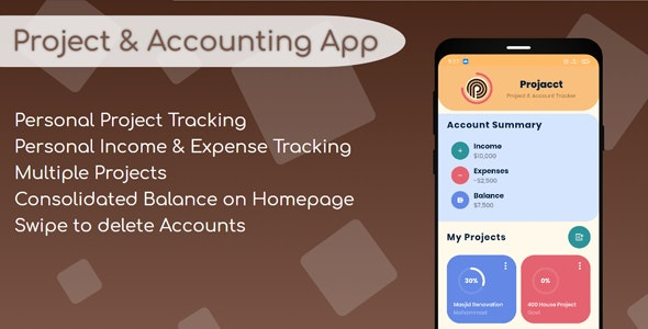 Project and Accounting App — Projacct - CodeCanyon Item for Sale