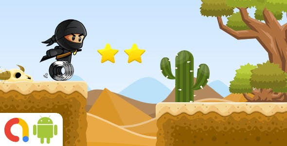 Ninja Desert Adventure Android Game with AdMob + Ready to Publish