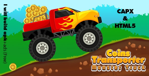 Coins Transporter Monster Truck (CAPX and HTML5) - CodeCanyon Item for Sale