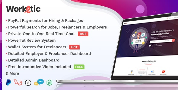 Worketic - Marketplace for Freelancers - CodeCanyon Item for Sale