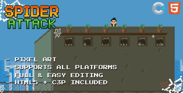 Spider Attack - HTML5 Game - CodeCanyon Item for Sale