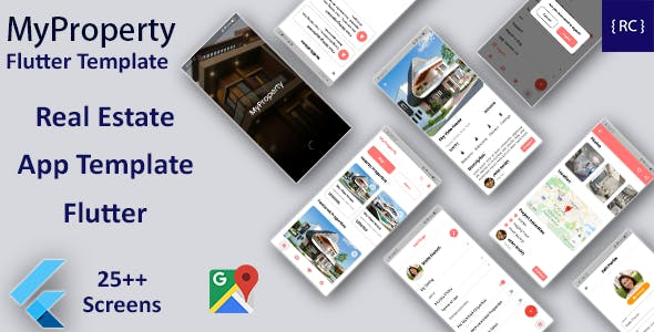 Real Estate Android App + Real Estate iOS App Template   Flutter   MyProperty