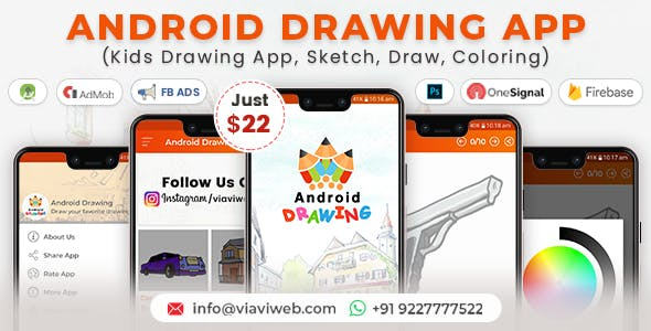 Android Drawing App (Kids Drawing App, Sketch, Draw, Coloring)