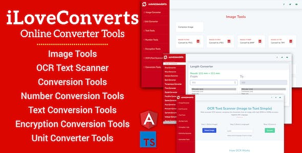 [All in One] iLoveConverts- Online Converter Tools Full Production Ready App(Angular11 & Typescript)