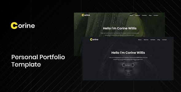 Corine - Responsive Personal Portfolio Template