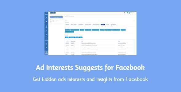 Ad Interests Suggests for Facebook - CodeCanyon Item for Sale