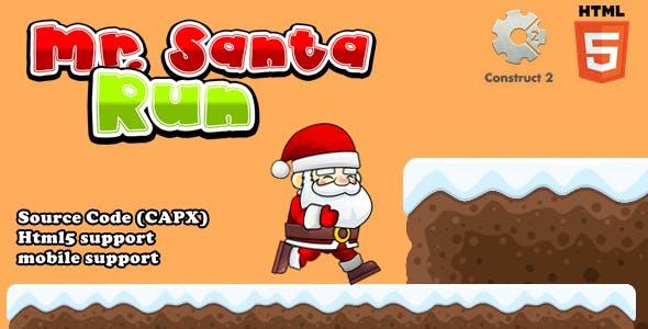 Mr Santa Run - Html5 Game