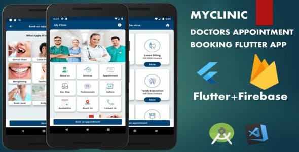 Myclinic - Doctors Appointment Booking App   Flutter   Firebase