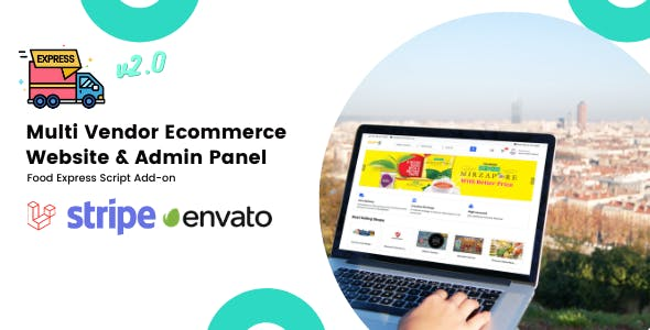 Multi-Vendor E-commerce Website & Admin Panel For Food-Express