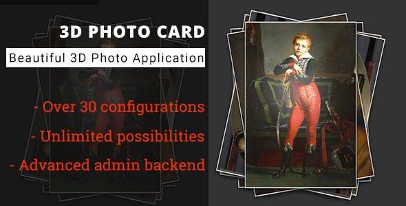 3D Photo Card - Advanced Media Gallery