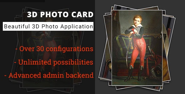 3D Photo Card - Advanced Media Gallery - CodeCanyon Item for Sale