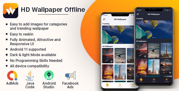 HD Wallpaper Pro Offline 2021 (with fully Animated UI) - CodeCanyon Item for Sale