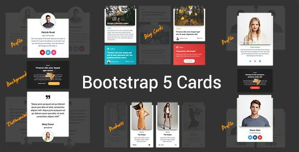 Modern - Responsive Bootstrap 5 Cards