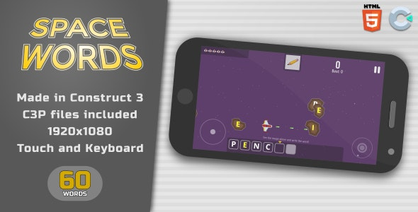 Space words - HTML5 Educational Game - CodeCanyon Item for Sale