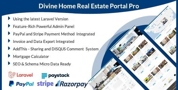 Divine Home - Laravel Real Estate Portal Pro
