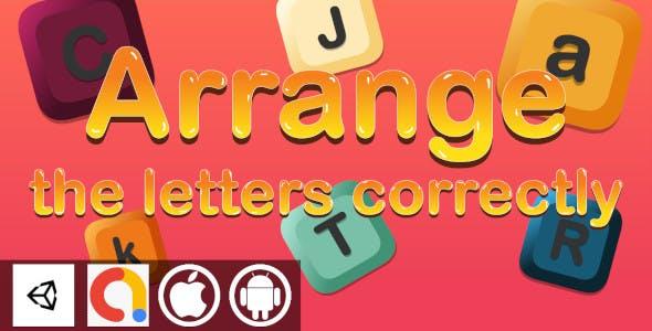 Edukida - Arrange the Letters Correctly Alphabet Game Unity Educational With Admob | Android and iOS