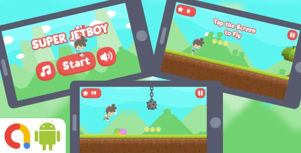 Super JetBoy Android Game with AdMob + Ready to Publish