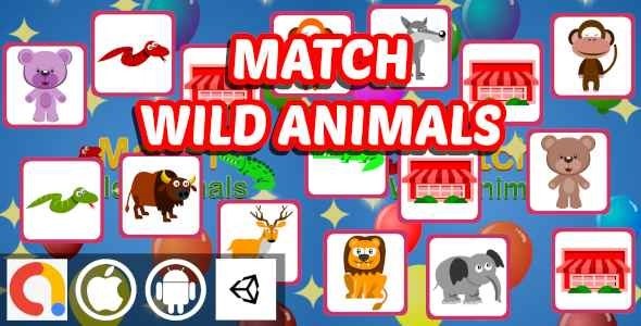 Edukida - Match Wild Animals | Unity Kids Educational Memory Game | Android and iOS With admob - CodeCanyon Item for Sale