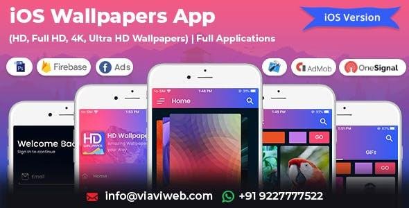 iOS Wallpapers App (HD, Full HD, 4K, Ultra HD Wallpapers)