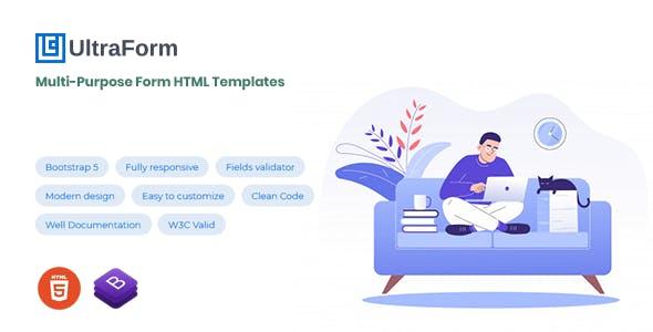 UltraForm - Bootstrap 5 Multi-Purpose Form Templates