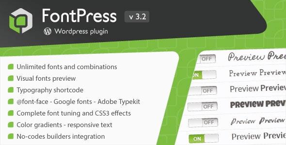 FontPress - Wordpress Font Manager - CodeCanyon Item for Sale