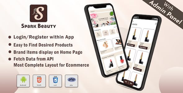 Android App Cosmetic Online Shopping App with Admin Panel ( eCommerce Android App)