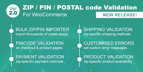 Zip/Pin/Postal Code Validator For WooCommerce