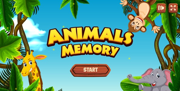 Animals Memory - HTML5 Game (Construct 3) - CodeCanyon Item for Sale