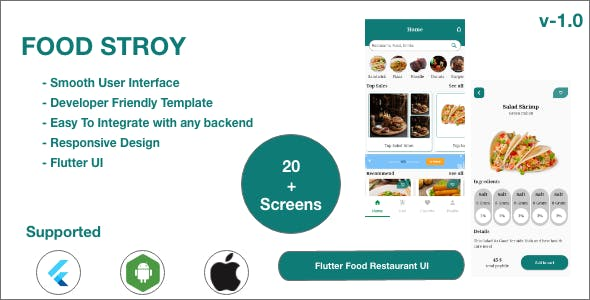 FoodStory - Restaurant | Food Ordering | Food App UI Kit in Flutter