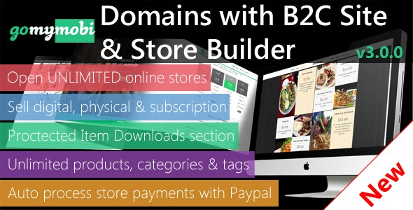 gomymobiBSB 2021 (v3): B2C Site & Store Builder with Domains, Element Builder, Paypal, Chat - CodeCanyon Item for Sale