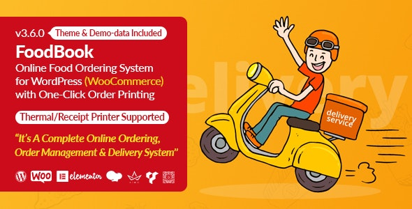 FoodBook v3.7.0 – Online Food Ordering System for WordPress with One-Click Order Printing