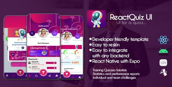 Quizzes App Template - Android & iOS - CodeCanyon Item for Sale