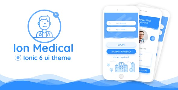 Ion Medical - ionic 6 medical center UI theme