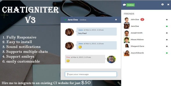 Chatigniter live chat app - CodeCanyon Item for Sale