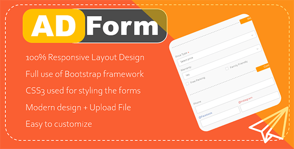 AdForm - Responsive Modern Ad submission form