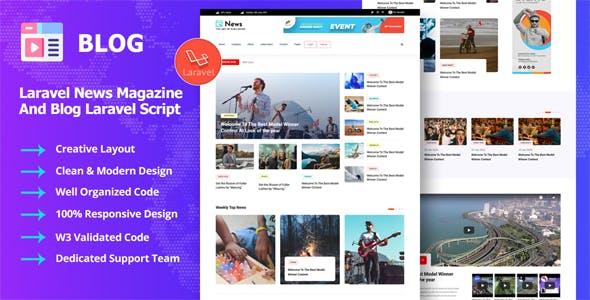 Newsly - Laravel Blog & News Magazine Script