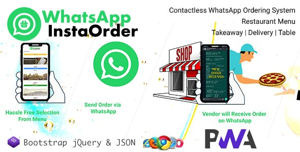 WhatsApp InstaOrder - ContactLess WhatsApp Ordering | Restaurant Menu - Takeaway | Delivery | Table