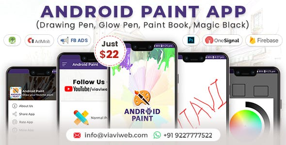 Android Paint App (Drawing Pen, Glow Pen, Paint Book, Magic Black)