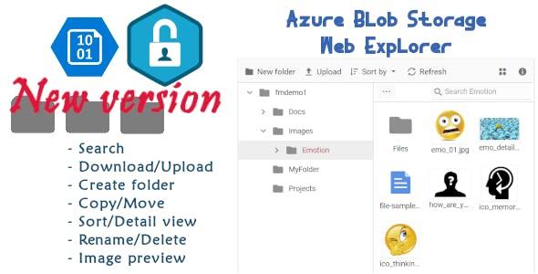 The new Azure Blob Storage Web Explorer UI with Azure AD Authentication