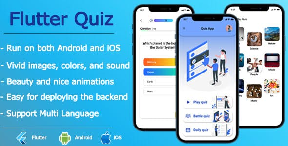 Flutter Quiz - Online Test, Quiz Online
