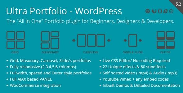 Ultra Portfolio - WordPress - CodeCanyon Item for Sale