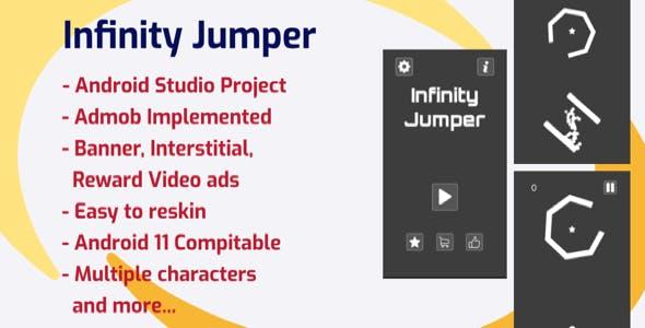 Infinity Jumper (Android Studio + Admob + Reward Video + ready to publish)