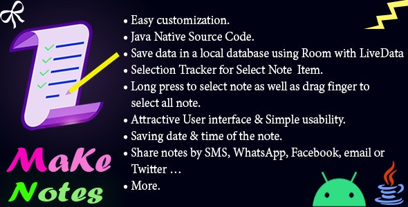 Notes App - Make Note Android Native App - CodeCanyon Item for Sale
