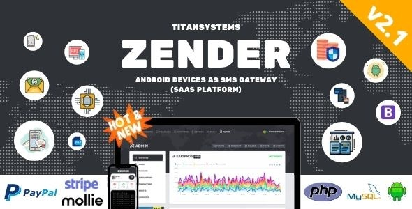 Zender - Android Mobile Devices as SMS Gateway (SaaS Platform) - CodeCanyon Item for Sale